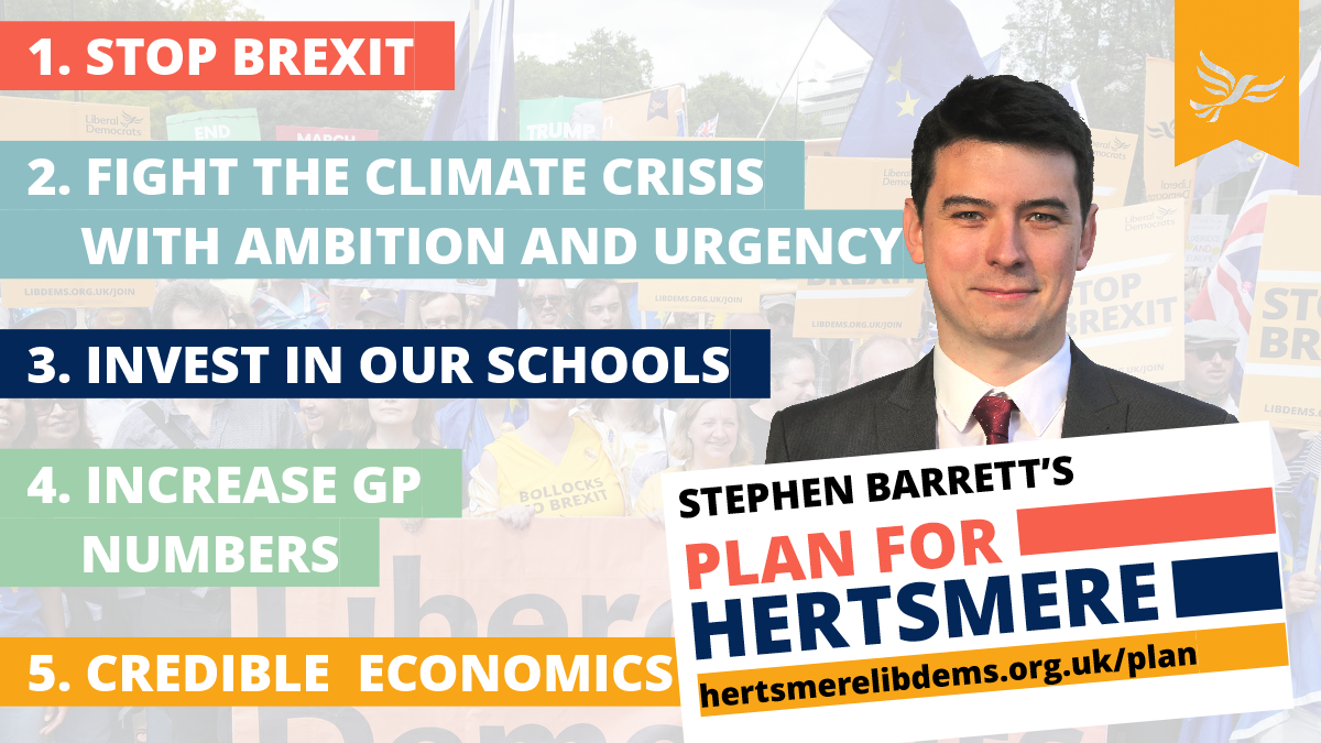 Stephen Barrett's Plan for Hertsmere