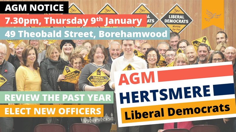 AGM notice Hertsmere Liberal Democrats