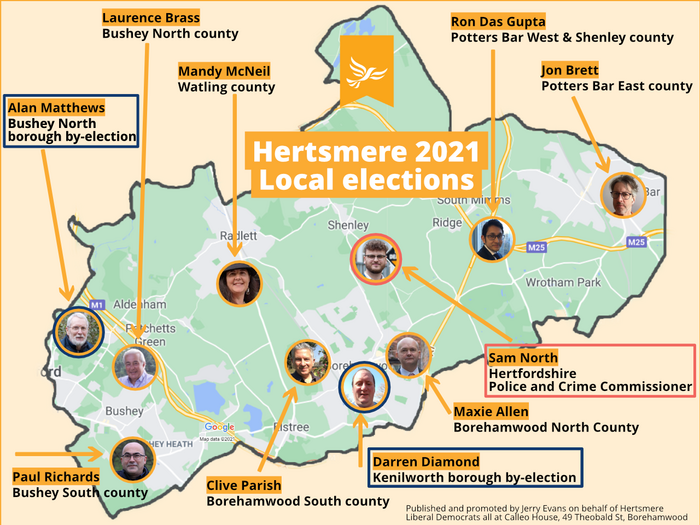 Hertsmere Candidates May 6th 2021