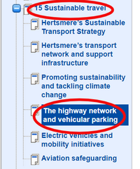 How to comment on the road infrastructure (Hertsmere Borough Council)