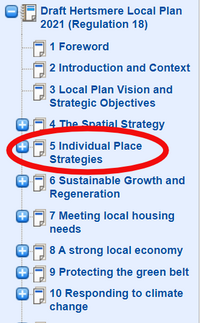 Selecting an individual place (Hertsmere Borough Council)