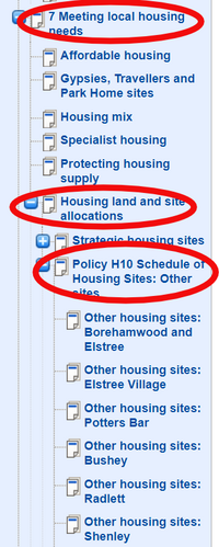 Information on smaller sites (Hertsmere Borough Council)