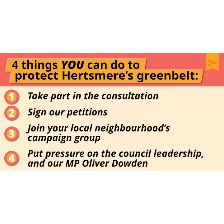 4 things you can do to protect Hertsmere's Greenbelt graphic